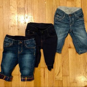6-12 mo Baby Gap Jean Bundle Boy